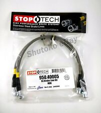 STOPTECH STAINLESS STEEL BRAIDED FRONT BRAKE LINES FOR 04-07 ACURA TSX