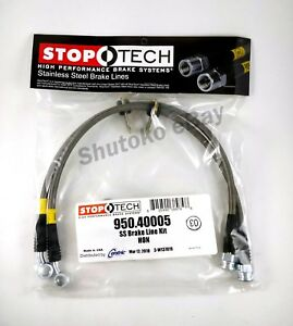 Russell Performance 684900 Steel Braided Brake Lines Fits 04-06 Acura TSX