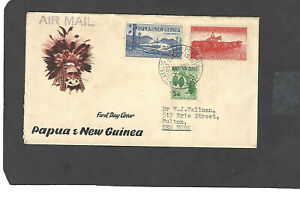 1960 5d,8d,2sh.5  NEW ISSUES FDC PORT MORESBY NOV 10-1960