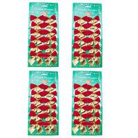 48 Mini Schleifen rot gold Weihnachten Weihnachtsschleifen Christbaum 5cm