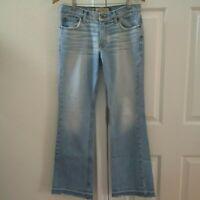 Calvin Klein Blue Jeans Pants Mid-rise Light Wash Women's Size 6 Raw Hem 30X31