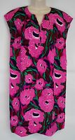 NWT Talbots Women's M Floral Dress, Lined Cap Sleeves (Pink, Navy, Green)