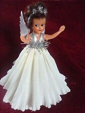VINTAGE CHRISTMAS TREE FAIRY DOLL DECORATION  DRESS 1960's Doll