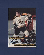 John McKenzie signed Boston Bruins 1998 Alumni hockey card