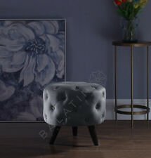 More details for new soft velvet deep buttoned pouffe with legs perfect piece for any room!