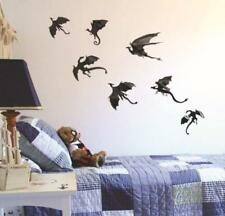 Halloween 3D Dragons Wall Stickers Art Room Removable Wallpapers Party Decal DIY