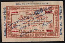 Stettin -Stadt- Notgeldschein zu 100 Mark v. 15.11.1922