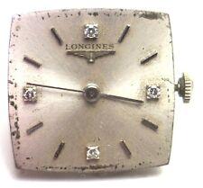 Antique Deco LONGINES Wrist Watch Movement Diamond Dial Face Parts Repair #W246