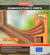 TOP GUMMIDICHTUNG /E- PROFIL-Selbstklebend 10 m Dichtung-Tür & Fensterdichtung