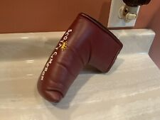 Scotty Cameron Nos Milled Retro Maroon Crown Titleist Flag Usa Putter Head cover