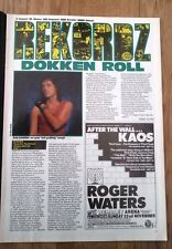 DOKKEN Back For Attack album review 1987 UK ARTICLE / clipping