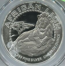 2017 S$2 Niue African Lion Silver Two Dollars - 1st Strike - Lot #SB 271
