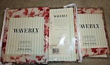 Waverly balloon valances set of 3 unused in package Arbor Rose  red