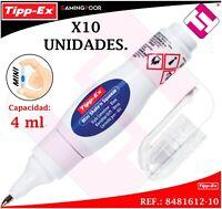 X10 UNIDADES CORRECTOR TIPP-EX MINI TIPO LAPIZ 4ML CORRECCION PUNTA METAL TIPPEX