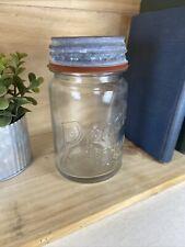 Presto Supreme Mason Pint Jar Illinois Glass Co.1927-1929 Zinc Lid •Vintage