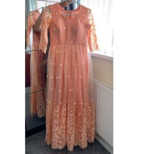 Cheap Bridesmaid Dress Wedding Gown Prom Evening Maxi Party Long Peach