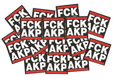 25 FCK AKP Aufkleber Punk Antifa Anti Erdoğan Hayır Anti AKP Biji Kurdistan YPG