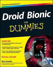 NEW Droid Bionic For Dummies by Dan Gookin