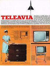 PUBLICITE ADVERTISING  1965   TELEAVIA  téléviseur