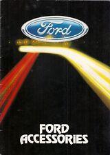 Ford Accessories 1983-84 UK Market Brochure Fiesta Escort Sierra Capri Granada