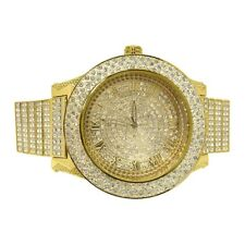 Gold Bossman Fully Iced Out Heavy Big Face Watch