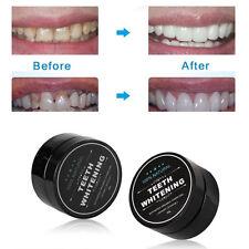 NEW Aktivkohle Zähne Whitening 100% Bio Kokosnuss Shell Pulver Mundpflege