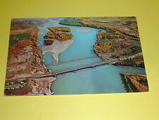 Peace River Bridge and Pipeline Crossing  B.C.Postcard Canada