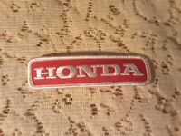 Vintage Honda Service sew on Patch Emblem Red & White