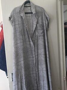 MONKI Midi Shirt dress Medium /Size 18 White