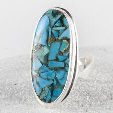 Zauberhaft schöner, großer Silber Ring, 925, Türkis Steine, Siegelring, Gr. 59