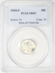 1944-S Mercury Dime PCGS MS67 AC634