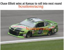 New listing Chase Elliott 2018 Mountain Dew Kansas Raced Win 1:24 Nascar Diecast