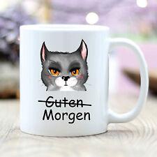 "T216 Wandtattoo-Loft Coffee Mug Cat "" Good Morning "" Amusing Grumpy Cat Grimly"