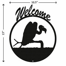 SWEN Products Buzzard Vulture Black Metal Welcome Sign