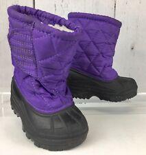 Toddler Girls' Kid Connection Snow Boots Sz7M, Fleece-Lined, Non-Slip/Waterproof