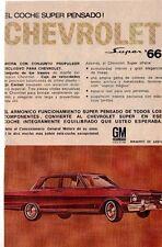 ANTIQUE ADVERTISING PRINT CHEVROLET SUPER 66