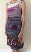 Beautiful 100% Silk Dress Moulinette Soeurs Designer At Anthropologie Uk 8 6 0