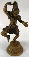 Antique Brass Dancing Dakini Devi Goddess Statue early 20th Century from India