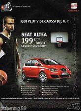 Publicité Advertising 2010 Seat Ibiza avec Tony Parker