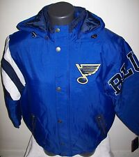 ST. LOUIS BLUES STARTER KNOCKOUT Winter Jacket MEDIUM BLUE/BLACK
