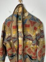 Ralph Lauren XL VTG Indian RRL Aztec Southwestern Sweater Serape Polo Wrap Robe