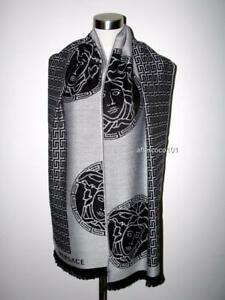VERSACE Large/Long Medusa Wool Scarf New MADE IN ITAL Perfect Gift UNISEX