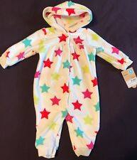Carter's Baby Girl Stars One piece Hooded Outfit Size 6 Months NWT