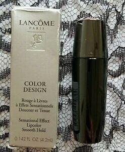 Lancome Paris Color Design Lipstick Gold Strike Sheen .142 FL OZ New in Box