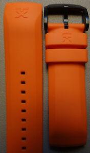 Mens Timex T3C316 Orange 800 Series TX Linear Sport Watch Band Titanium Buckle