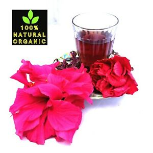 Dried Hibiscus Flower Herb Tea Weight Loss Immune Clean Liver Kidney Hair 1oz