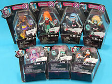 7x Mega Construx Monster High Collection 3 Mini Figures New Sealed 2015