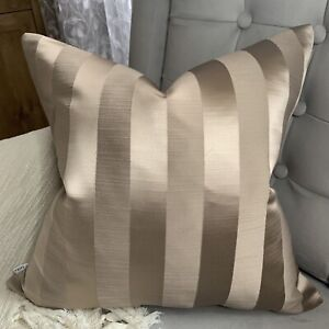 """Timeless & Classic Cushion Cover 16"""" Ascot Taupe by Fryetts Fabric Stripe"""