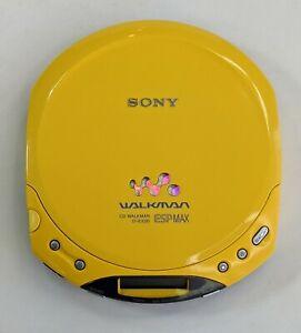 Sony CD Walkman D-E220 ESPMax Portable CD Player Discman Yellow For Parts