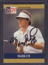 Mark Lye 1990 PGA Tour Pro Set # 54 autographié signé jhpsg